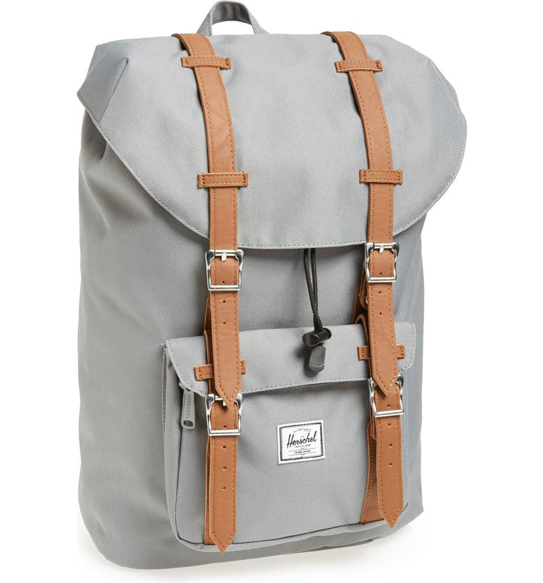 HERSCHEL SUPPLY CO. Little America - Mid Volume Backpack, Main, color, GREY