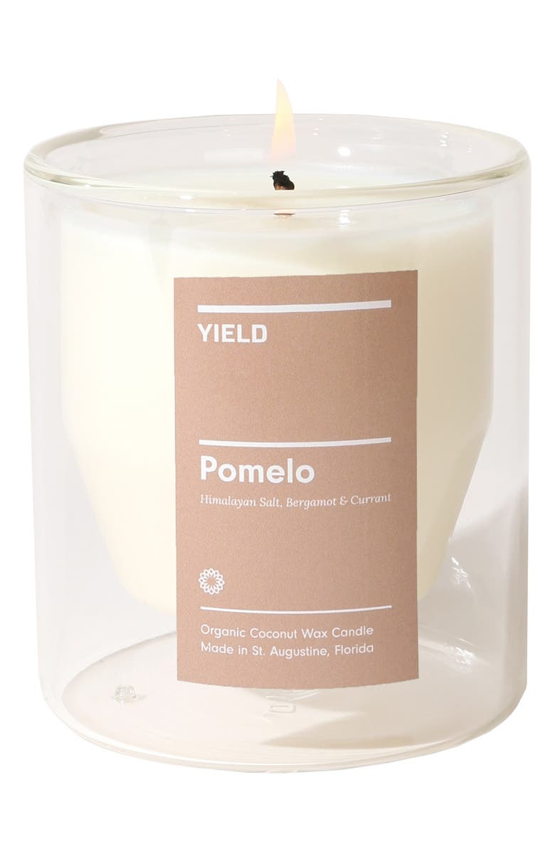 YIELD Pomelo CBD Double Wall Candle, Main, color, POMELO