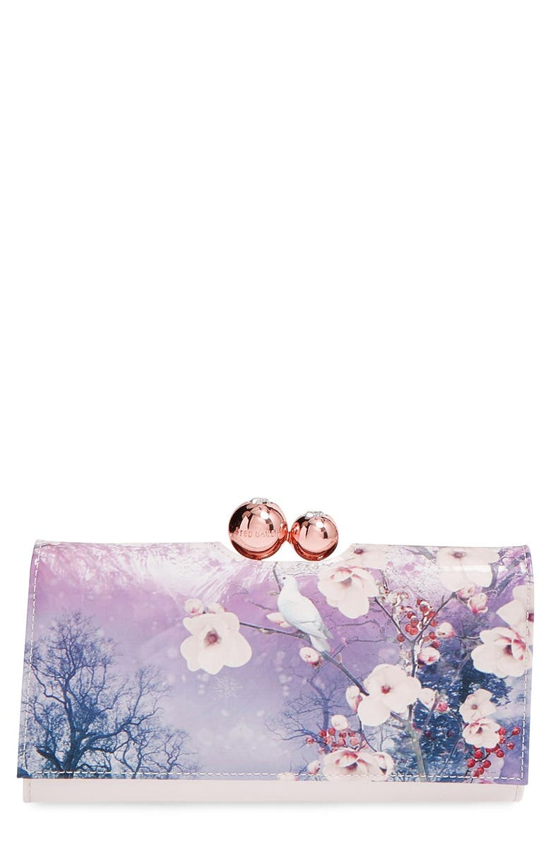 TED BAKER LONDON 'Misty Mountains' Matinee Wallet, Main, color, 400