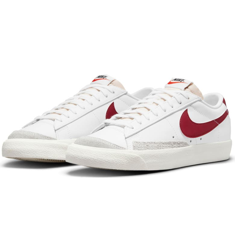 NIKE Blazer Low '77 Sneaker, Main, color, WHITE/ RED