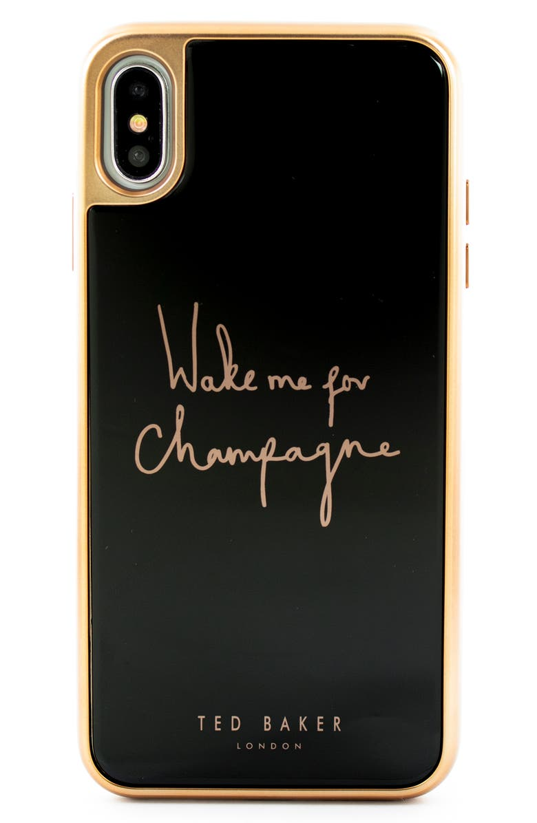 TED BAKER LONDON Champagne iPhone X/Xs/Xs Max & XR Case, Main, color, 001