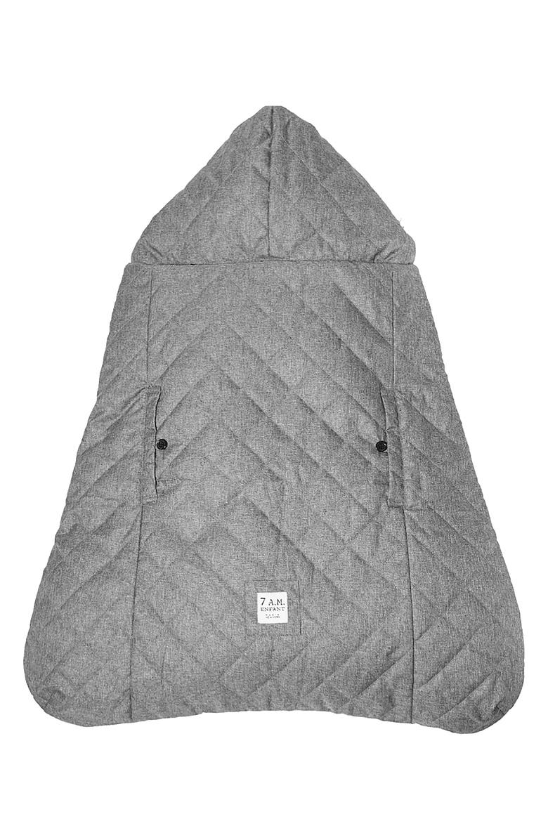7 A.M. ENFANT 7. A.M. Enfant K-Poncho 3-in-1 Baby Carrier Cover, Main, color, HEATHER GREY PLUSH