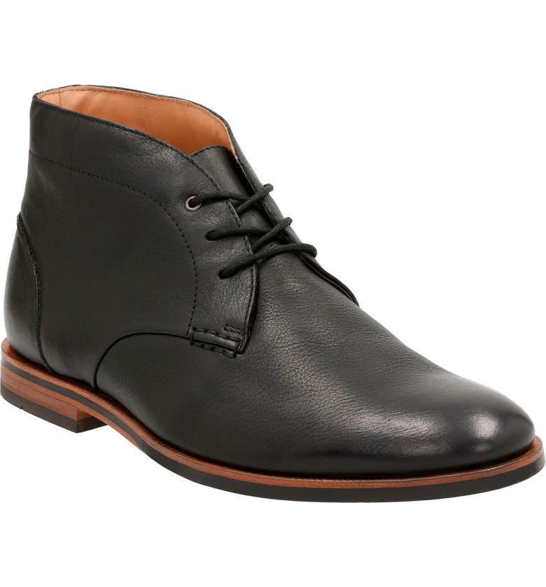 CLARKS<SUP>®</SUP> Broyd Mid Chukka Boot, Main, color, BLACK LEATHER