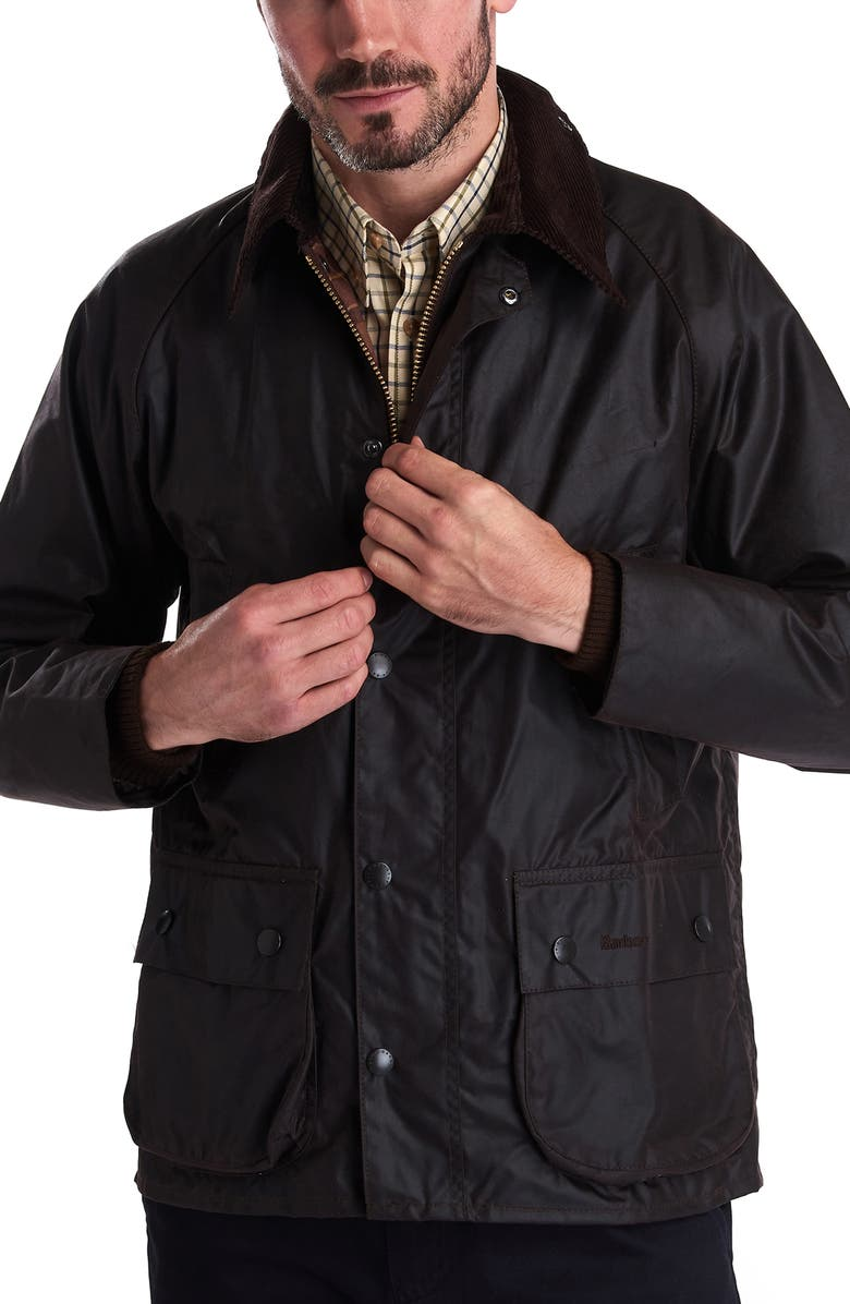 Barbour Bedale Regular Fit Waxed Cotton Jacket Nordstrom