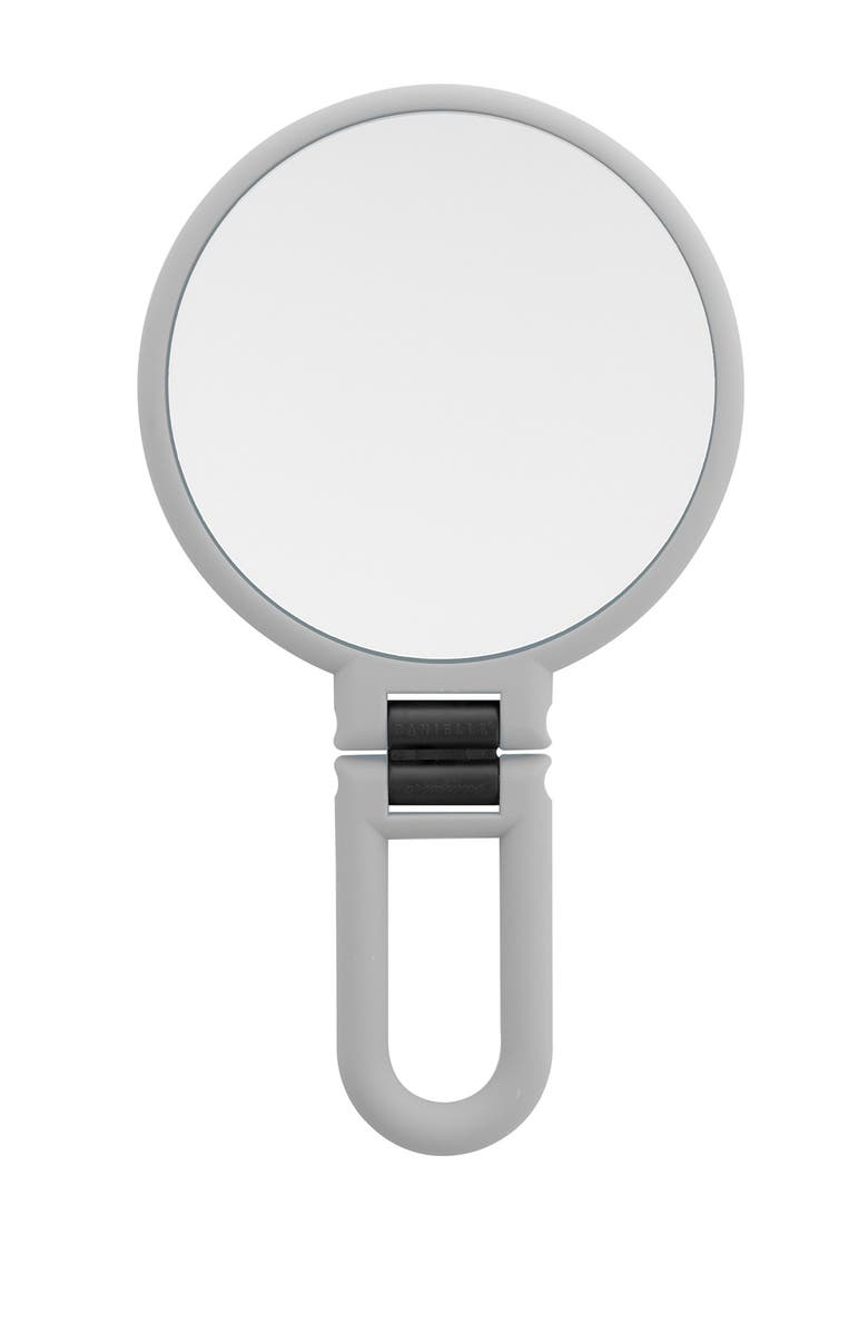 UPPER CANADA SOAPS Danielle Soft Touch Hand Held Foldable Mirror - Cool Grey, Main, color, NO COLOR