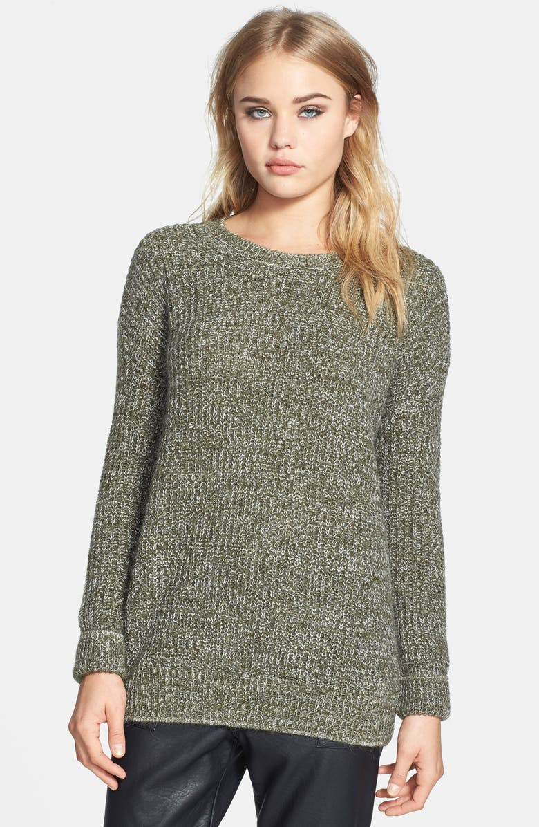 TOPSHOP Ribbed Sweater, Main, color, 300