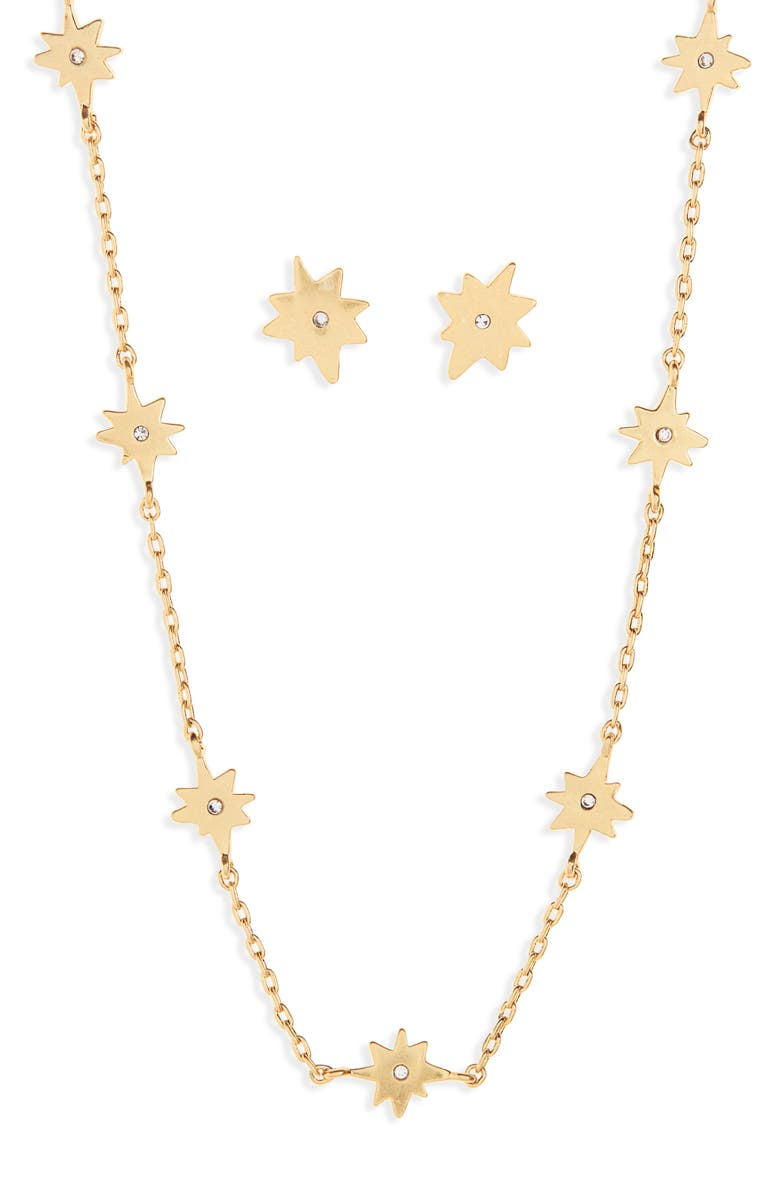 MADEWELL Starshine Necklace and Earring Set, Main, color, 710