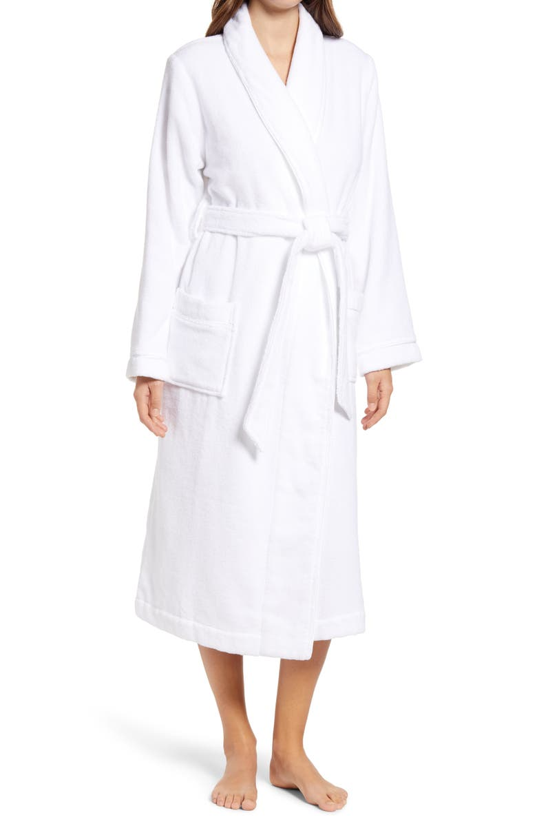 NORDSTROM Hydro Cotton Terry Robe, Main, color, WHITE