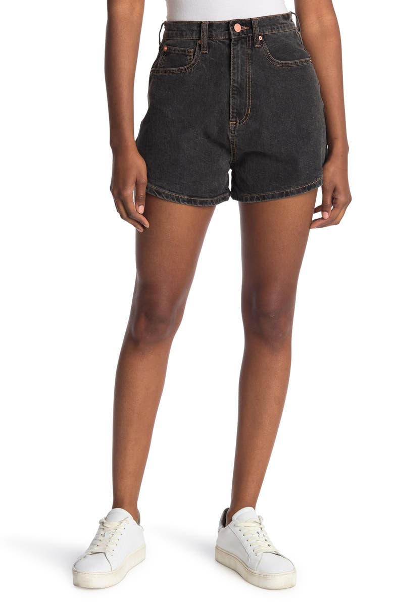 WEWOREWHAT High Rise Shorts, Main, color, BAHBAH