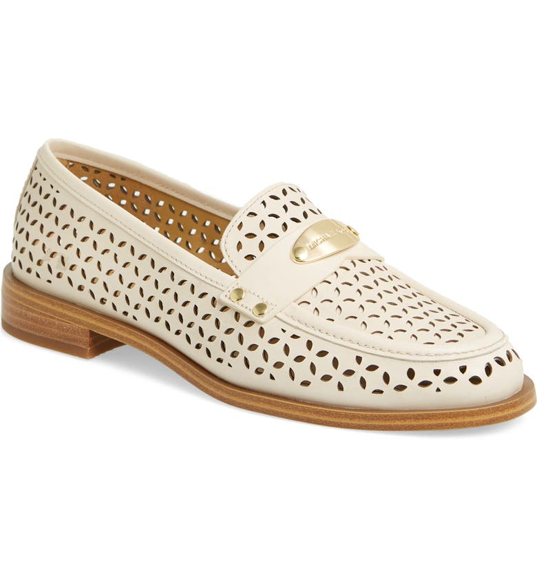 MICHAEL MICHAEL KORS Finley Loafer, Main, color, LIGHT CREAM