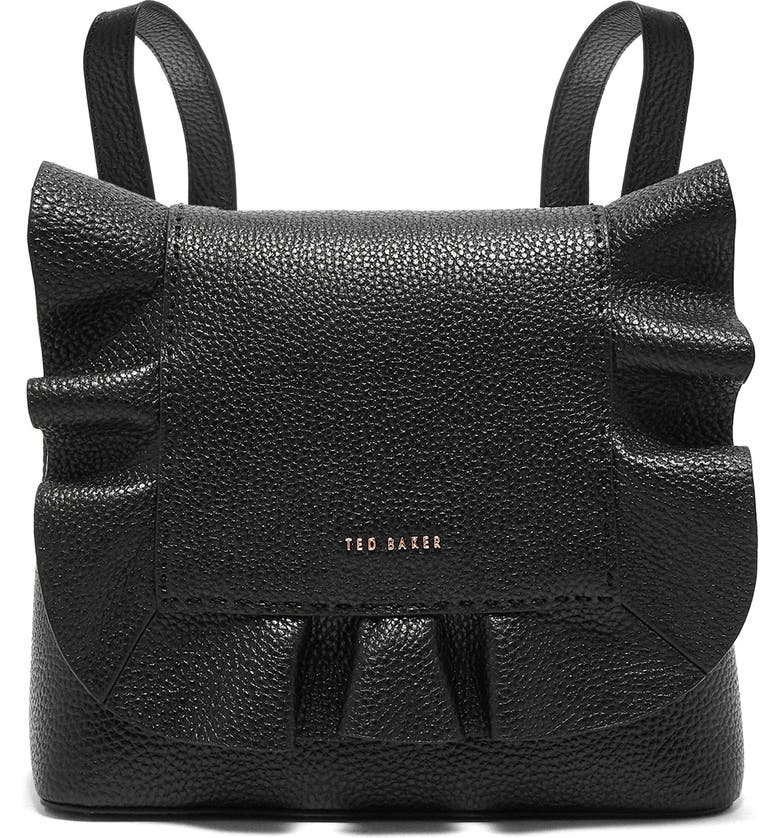 TED BAKER LONDON Rammira Leather Convertible Backpack, Main, color, 001