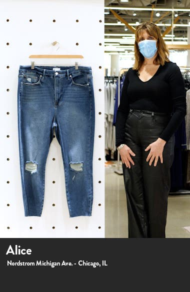 Good Legs High Waist Raw Edge Crop Skinny Jeans, sales video thumbnail
