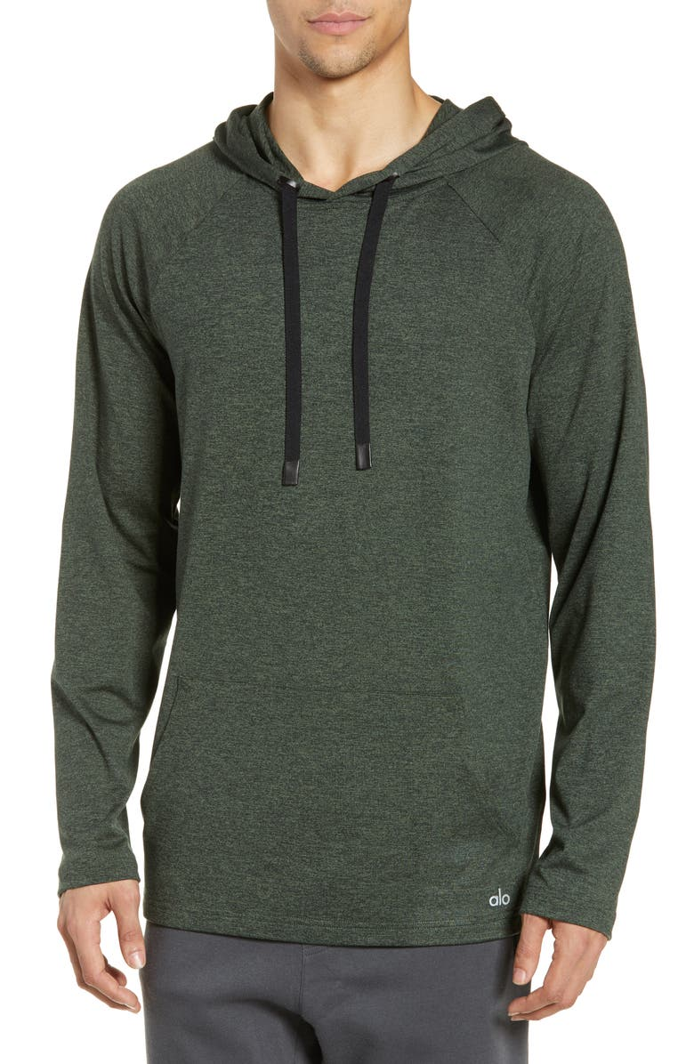 ALO Conquer Hoodie, Main, color, HUNTER HEATHER