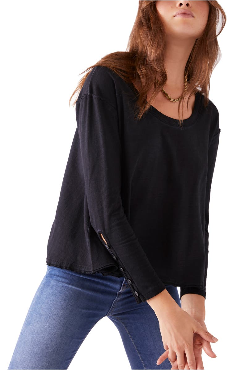 FREE PEOPLE We the Free by Free People Peony Long Sleeve Top, Main, color, 003