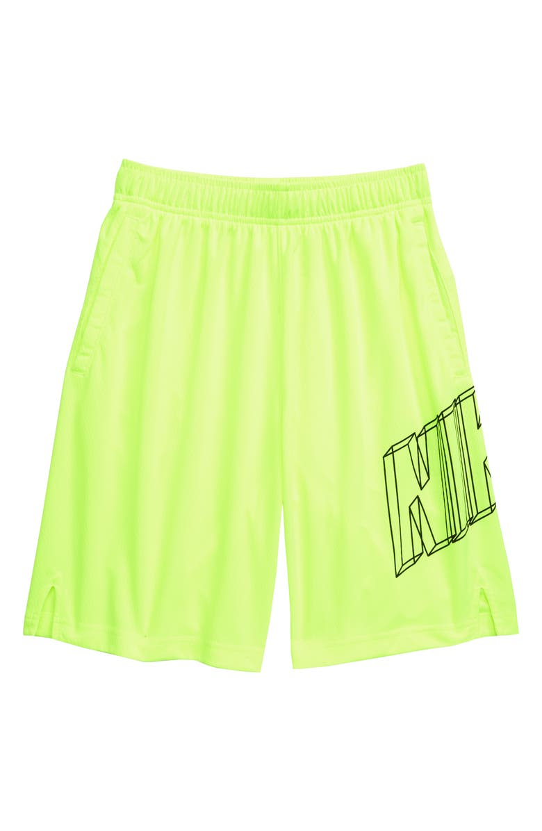 NIKE Dry GFX Athletic Shorts, Main, color, 702