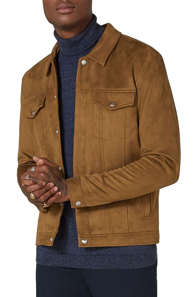 TOPMAN Chucky Faux Suede Western Jacket, Main, color, 230