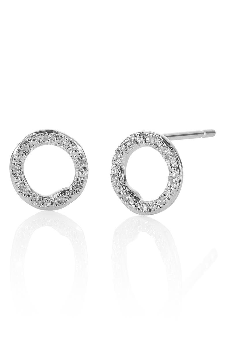 MONICA VINADER 'Riva' Circle Stud Diamond Earrings, Main, color, 040