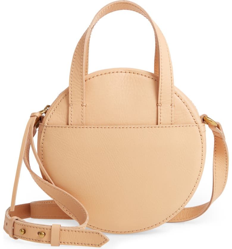 MADEWELL Juno Circle Leather Crossbody Bag, Main, color, 250