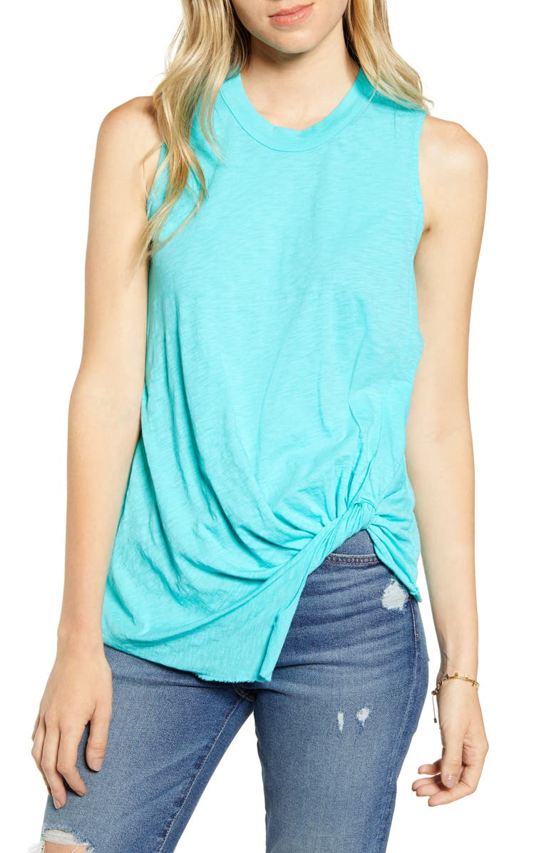 STATESIDE Twist Hem Slub Supima<sup>®</sup> Cotton Tank, Main, color, 440