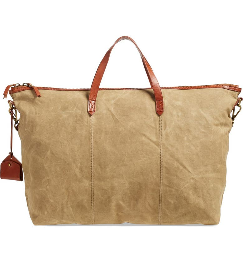 MADEWELL The Transport Canvas Weekend Bag, Main, color, 250