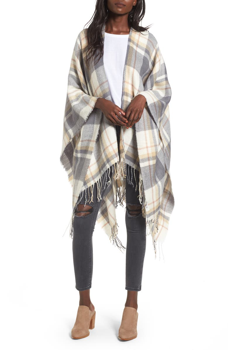 BP. Plaid Cape, Main, color, 020