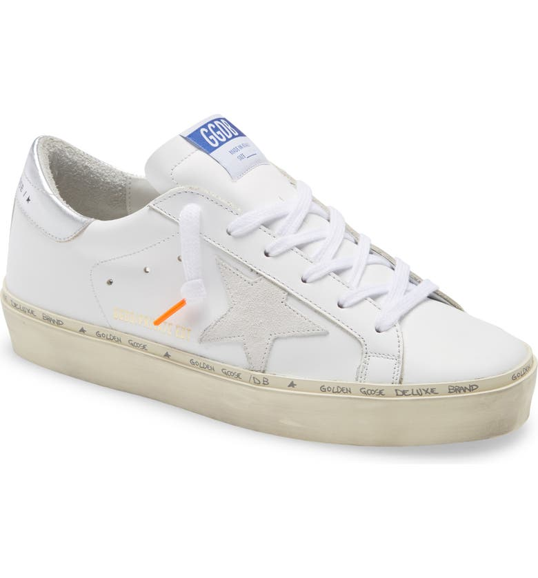 GOLDEN GOOSE Hi Star Low Top Sneaker, Main, color, WHITE LEATHER