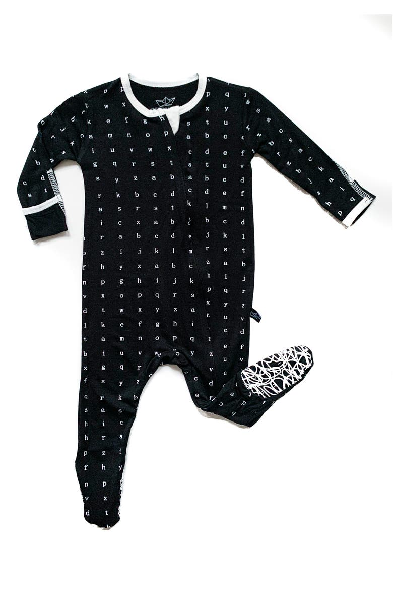 PEREGRINE KIDSWEAR Typewriter Fitted One-Piece Pajamas, Main, color, 001