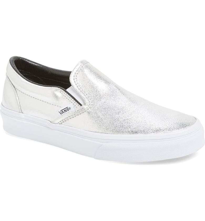 VANS Metallic Leather Slip-On Sneaker, Main, color, 040