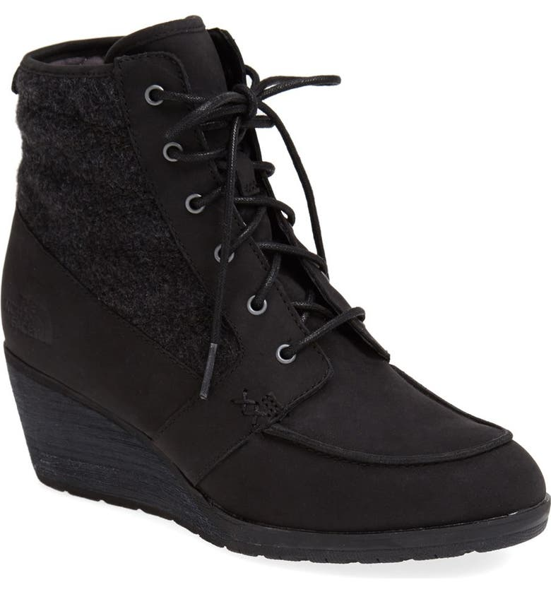 THE NORTH FACE 'Bridgeton Wedge Lace' Waterproof Boot, Main, color, 001