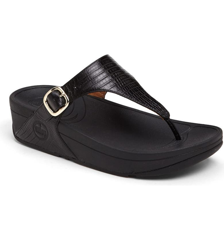 FITFLOP 'The Skinny<sup>™</sup>' Flip Flop, Main, color, Black