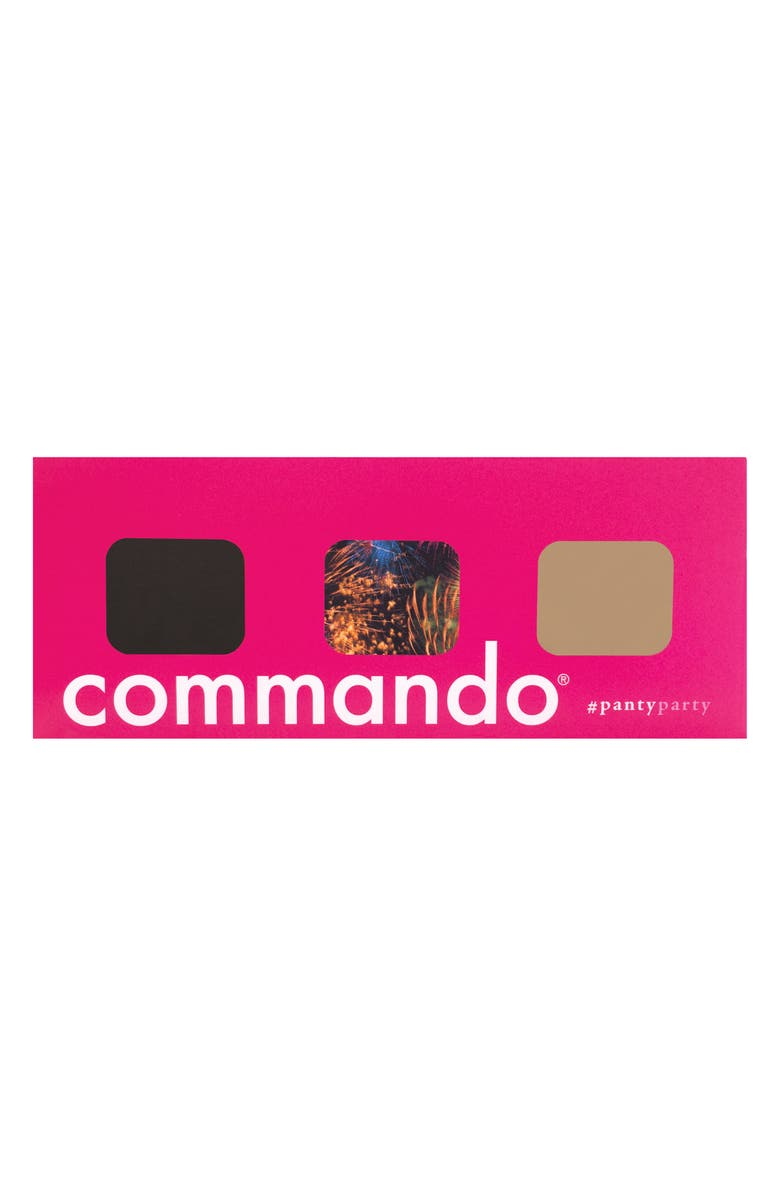 COMMANDO Panty Party - Microfiber 3-Pack Thongs, Main, color, 001
