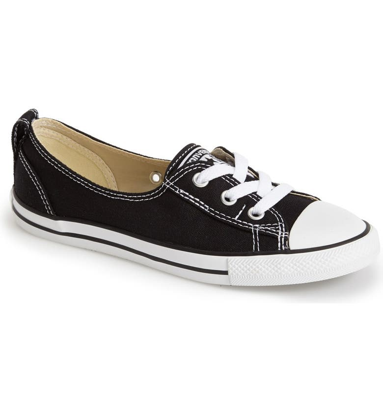 CONVERSE Chuck Taylor<sup>®</sup> All Star<sup>®</sup> Ballet Canvas Sneaker, Main, color, 001