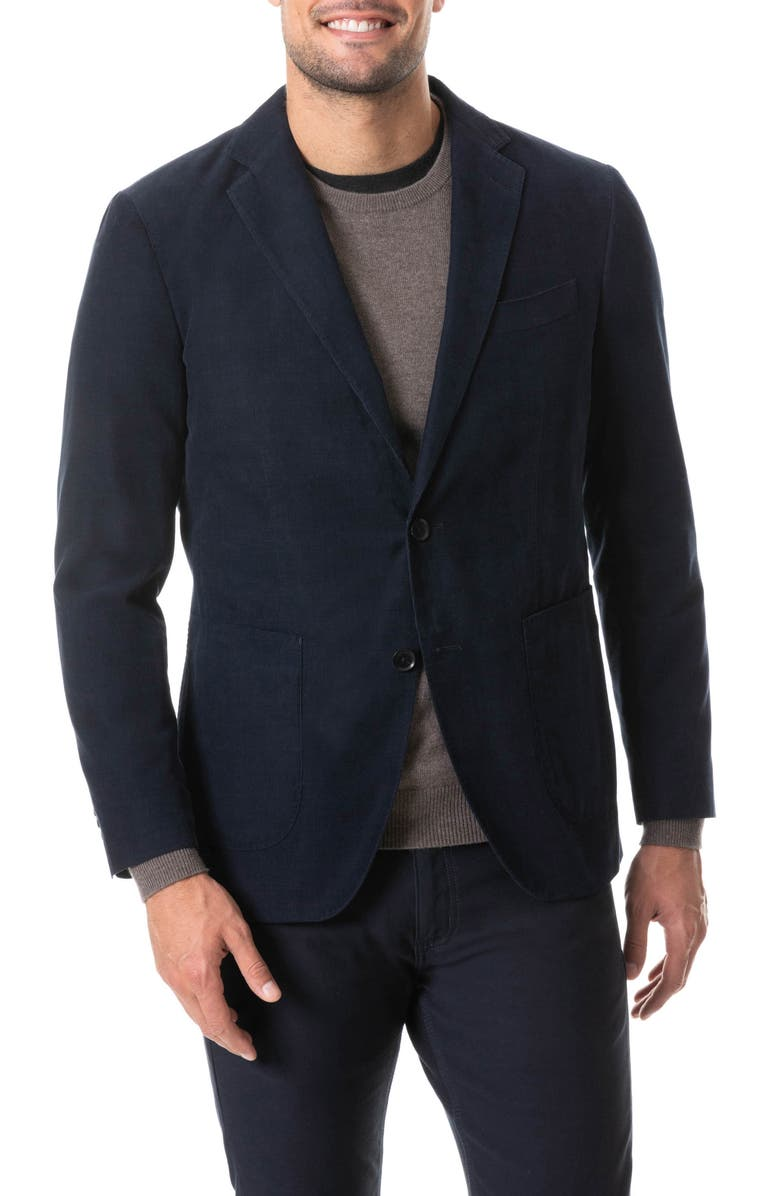 RODD & GUNN Saint Bathans Corduroy Sport Coat, Main, color, NAVY