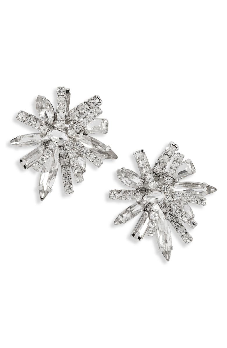 CRISTABELLE Statement Cluster Crystal Earrings, Main, color, 040