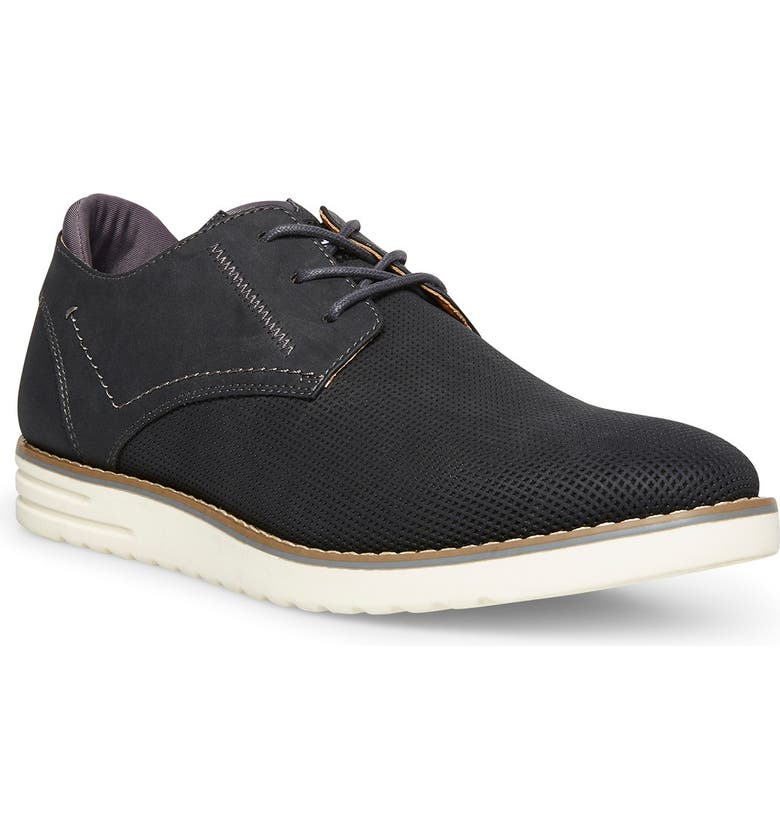 MADDEN Calling Textured Oxford Sneaker, Main, color, BLACK