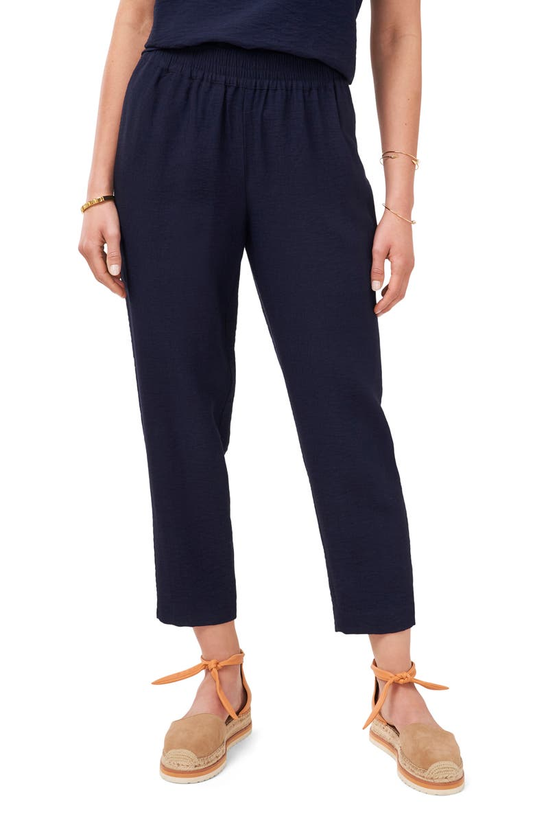 VINCE CAMUTO Pull-On Ankle Pants, Main, color, CLASSIC NAVY