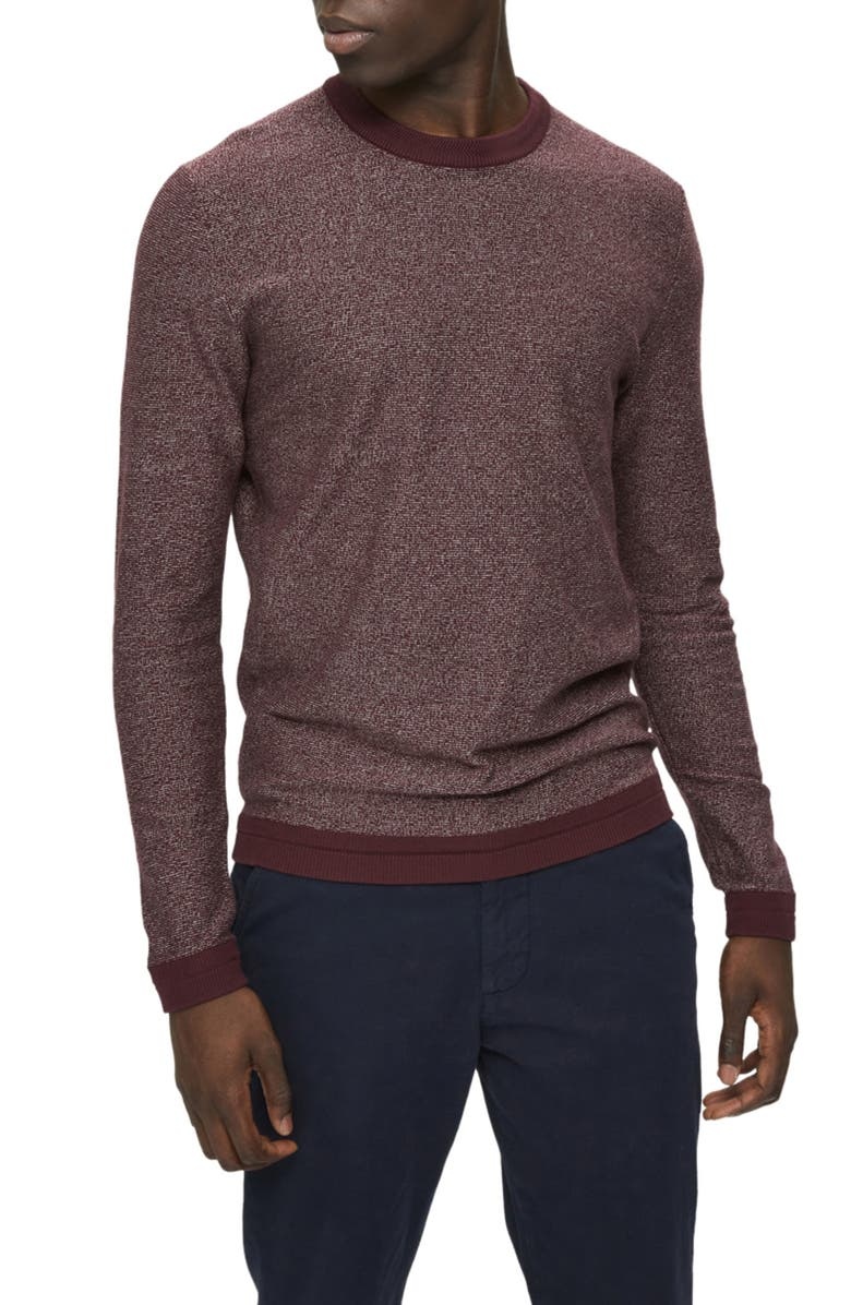 SELECTED HOMME Jefferson Crewneck Sweater, Main, color, PORT ROYALE