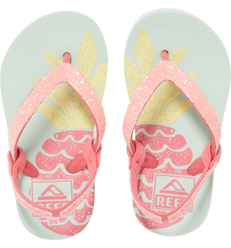REEF Little Stargazer Print Flip Flop, Main, color, BIG PINEAPPLE