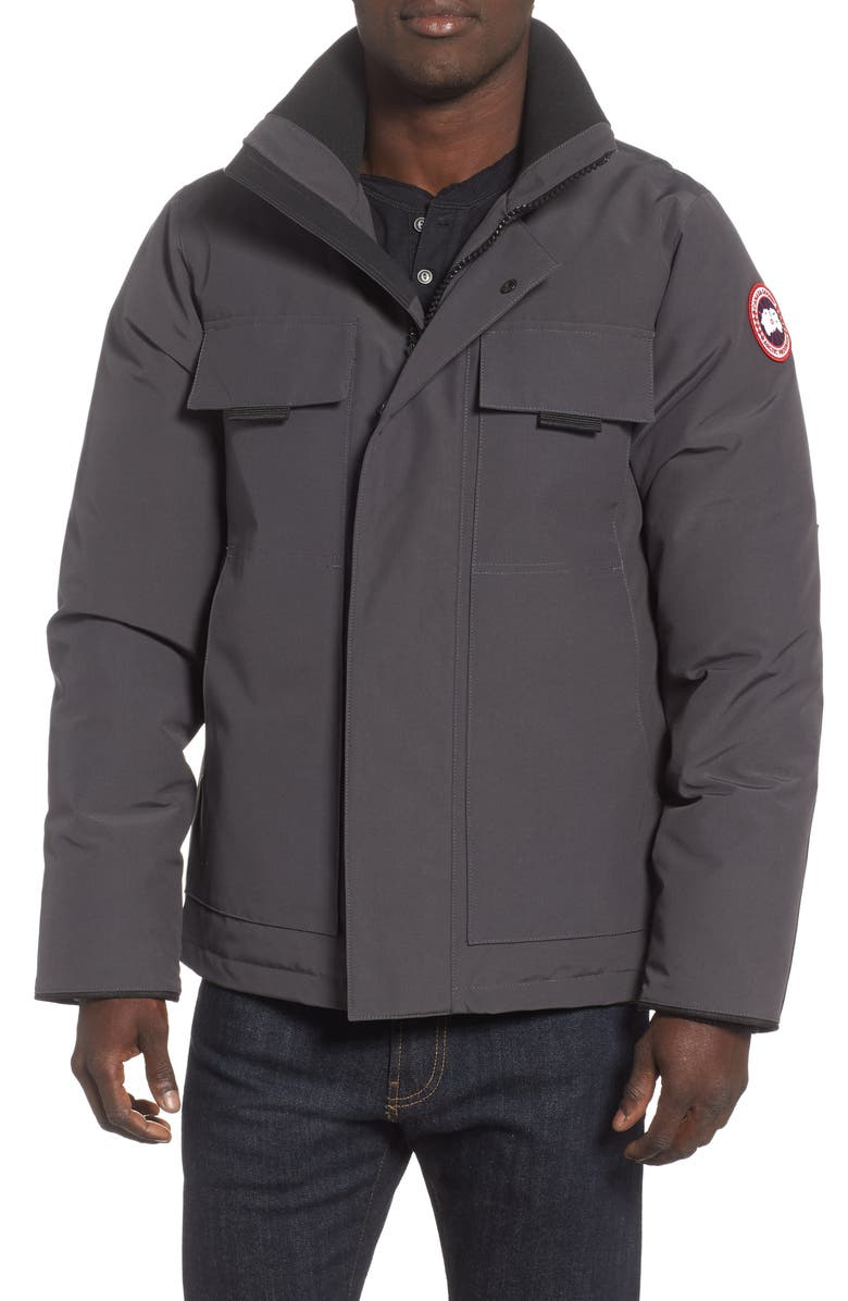 CANADA GOOSE Forester Slim Fit Jacket, Main, color, GRAPHITE