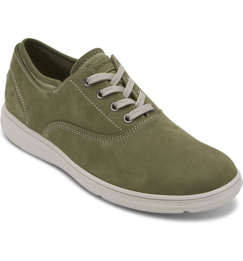 ROCKPORT Zaden Oxford Sneaker, Main, color, OLIVE NUBUCK