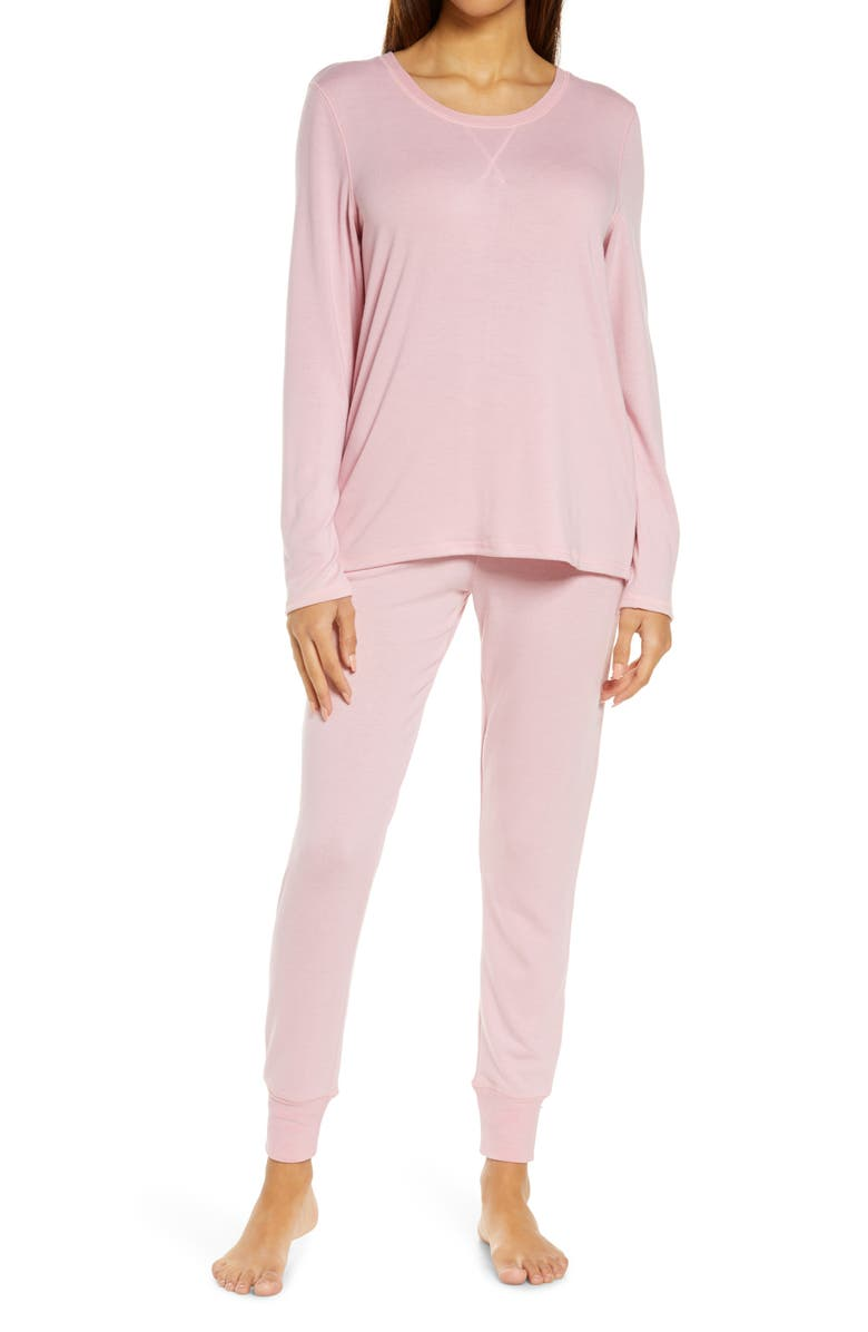 PAPINELLE Feather Soft Pajamas, Main, color, PEONY PINK