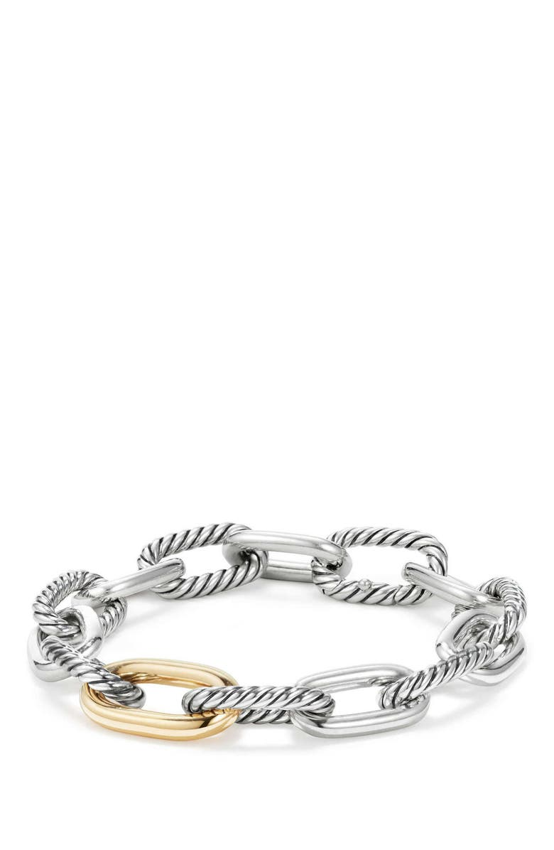 DAVID YURMAN DY Madison Chain Medium Bracelet, Main, color, GOLD/ SILVER