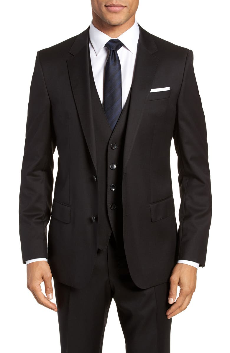 BOSS Hayes CYL Slim Fit Solid Wool Sport Coat, Main, color, 001