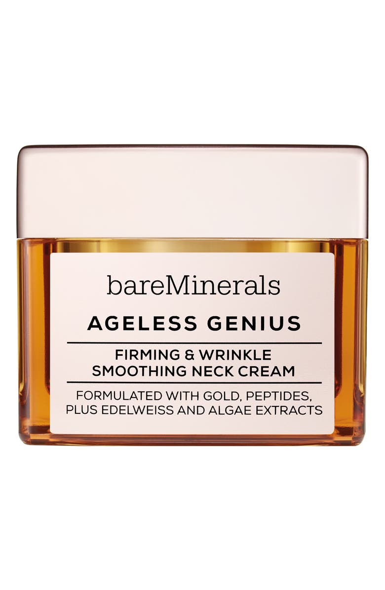 BAREMINERALS<SUP>®</SUP> Ageless Genius Firming & Wrinkle Smoothing Neck Cream, Main, color, NO COLOR
