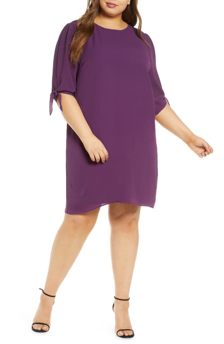 KIYONNA Manhattan Shift Dress, Main, color, PLUM
