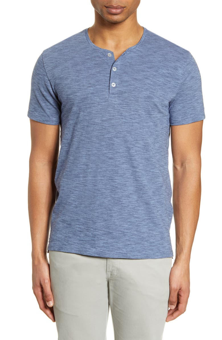 BONOBOS Slim Fit Pinstripe Henley, Main, color, 400