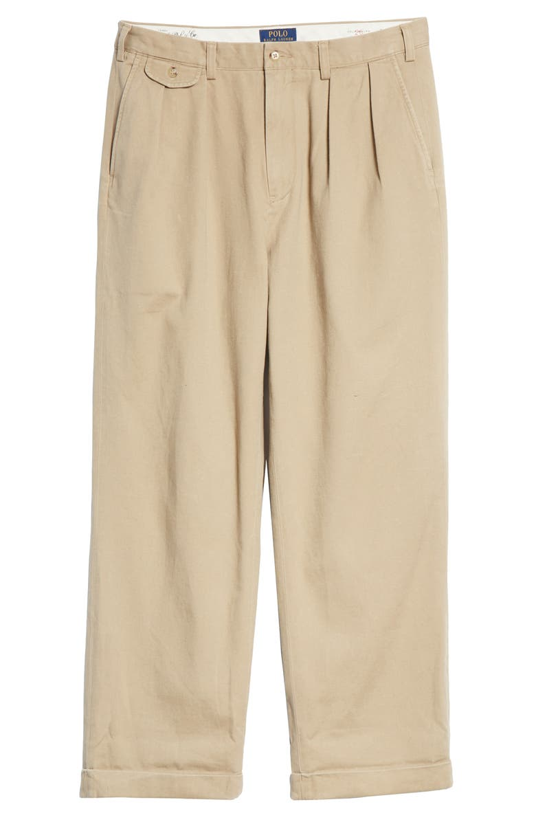POLO RALPH LAUREN Big Pleated Chino Pants, Main, color, 250