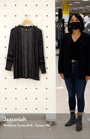 Lace Marled Open Cardigan, sales video thumbnail