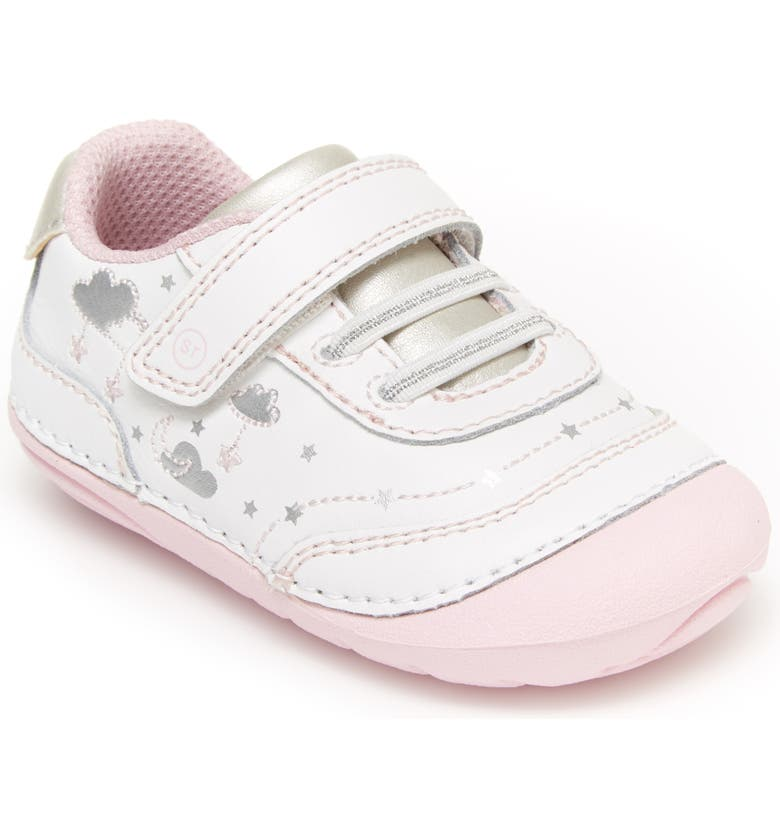 STRIDE RITE Soft Motion<sup>™</sup> Adalyn Sneaker, Main, color, WHITE/ SILVER