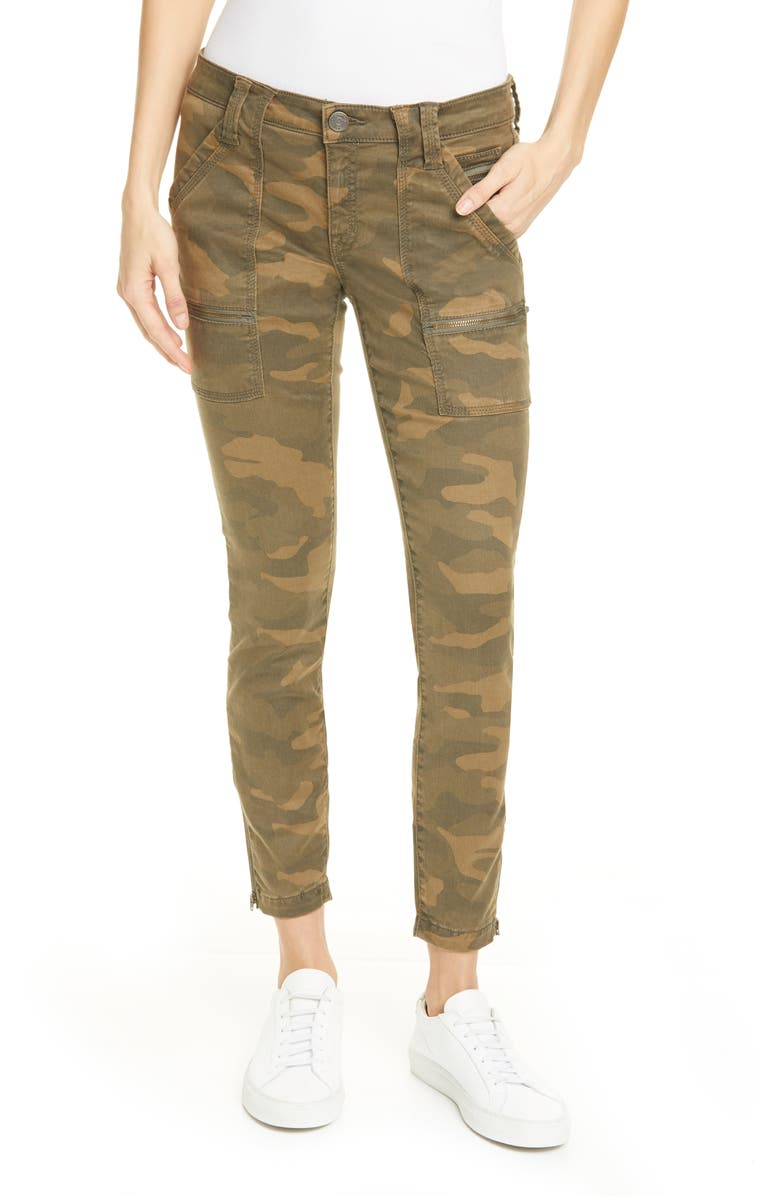 JOIE Park Skinny Pants, Main, color, FATIGUE CAMO